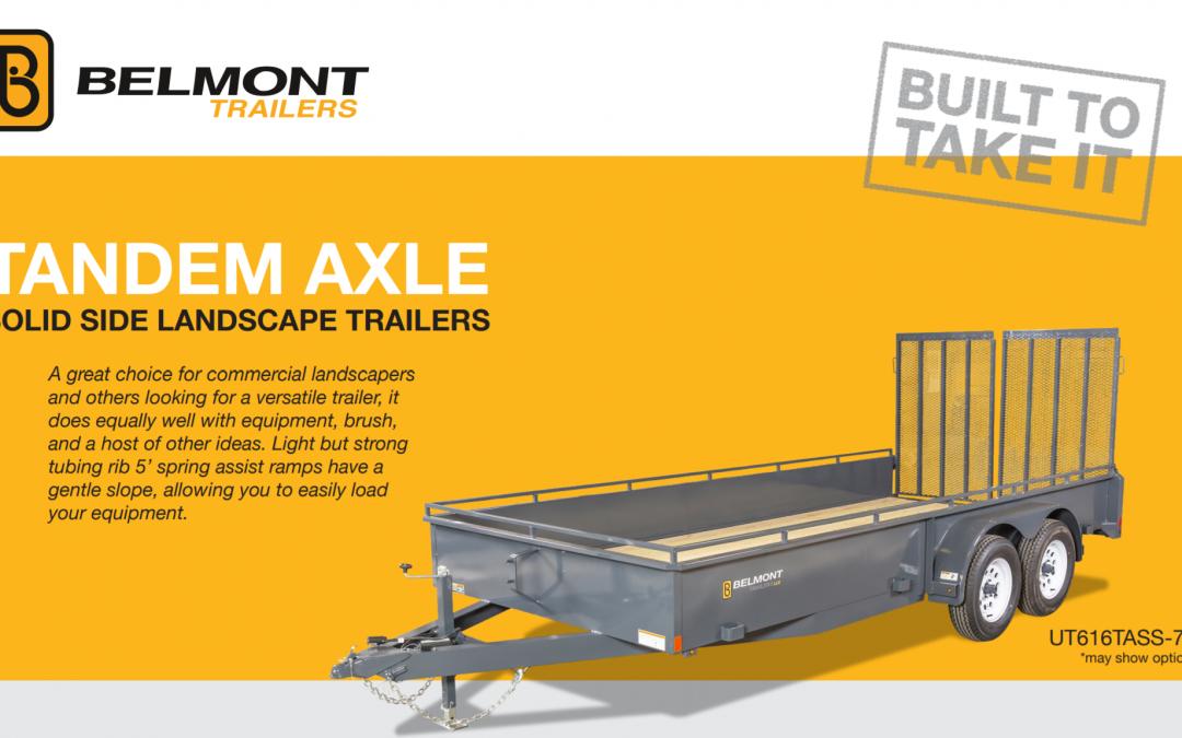 Belmont Tandem Axle Solid Side Landscape Trailer
