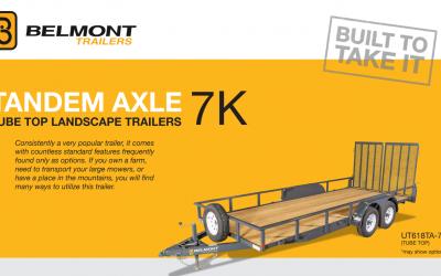 Belmont Tandem Axle Landscape Trailer